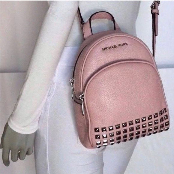 a0fc37124c2f9 NWT Michael Kors Abbey XS Blush Pink Mini Backpack